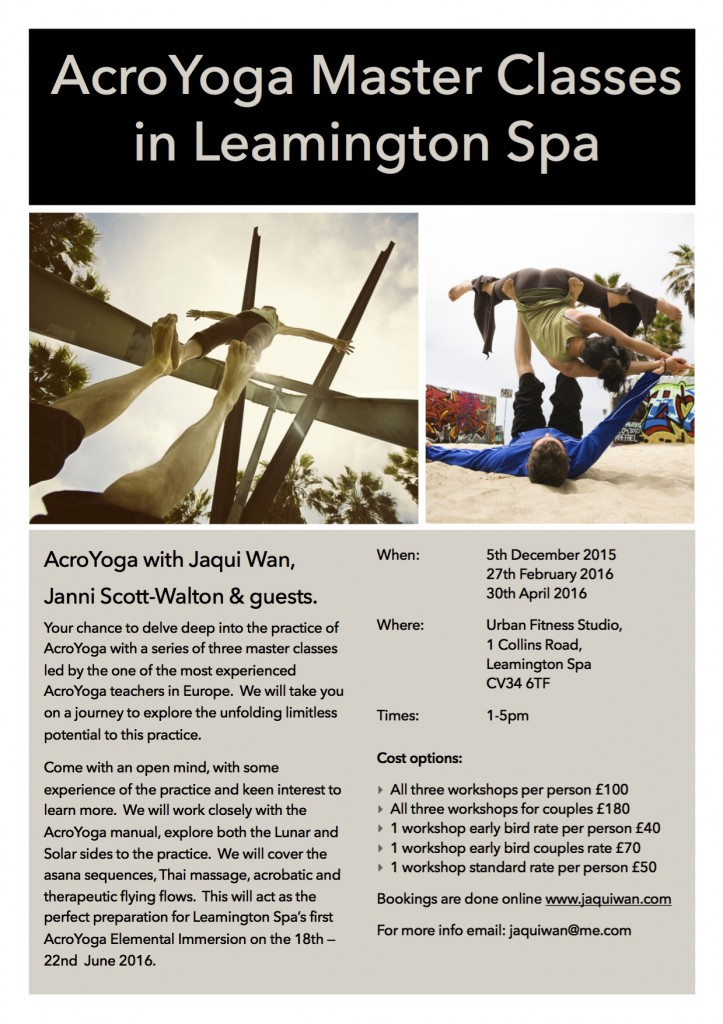 Leamington Spa Master Classes 15-16